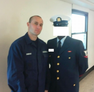 Martin with Shipmate in Coast Guard Basic Training | How to Prepare for Coast Guard Basic Training