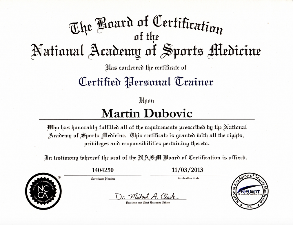 NASM Certified Personal Trainer Certificate | How to Prepare For Coast Guard Boot Camp Physically