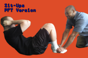 Sit-ups in Coast Guard Boot Camp