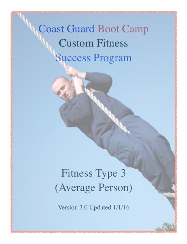 Coast Guard Boot Camp Fitness Success Program Book Cover