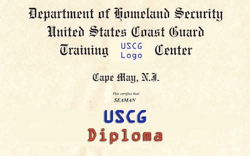 USCG Graduation Diploma
